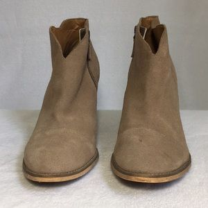 Susina Suede Leather Ankle Boots Tan Size 13M